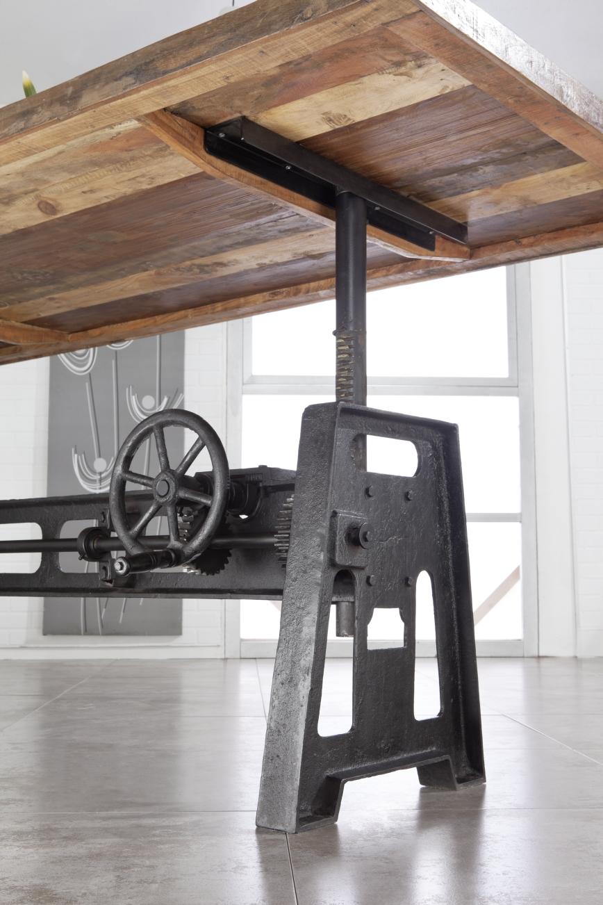 Industrial st 24 metal drewno z odzysku 220x100 cm for Industrial deko